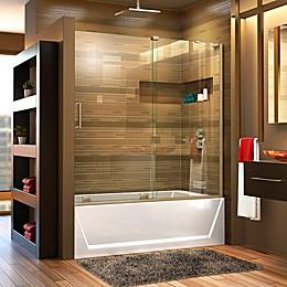 DreamLine Mirage-X Frameless Sliding Bathtub Door in Chrome