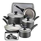 Farberware® Nonstick Aluminum 15-Piece Cookware Set in Pewter