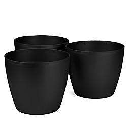 Mind Reader 12-Inch Multi Purpose Round Trash Bins (Set of 3)