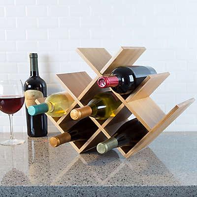 Classic Cuisine Bamboo 8-Bottle Tabletop Wine Rack