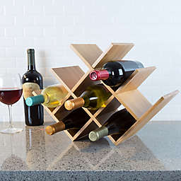 Clic Cuisine Bamboo 8 Bottle Tabletop Wine Rack