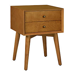 Crosley Landon Nightstand in Acorn