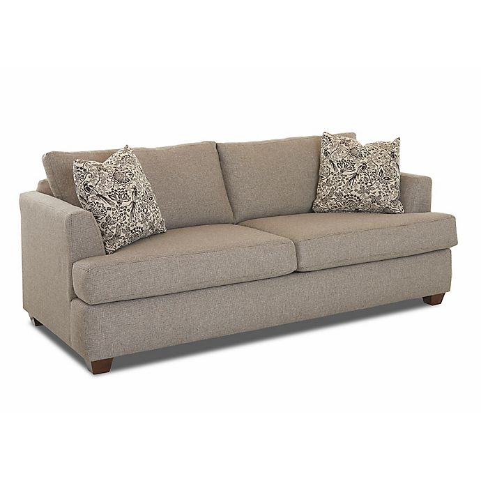 Loose Pillow Back Sofa: Klaussner®™ Upholstered Loose Pillow Back Recliner Sofa