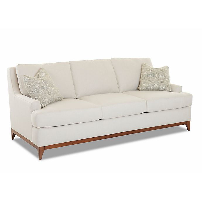 Loose Pillow Back Sofa: Klaussner®™ Upholstered Loose Pillow Back Sofa In Cream