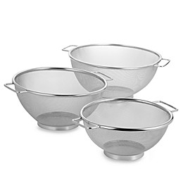SALT™ Stainless Steel Mesh Colanders (Set of 3)