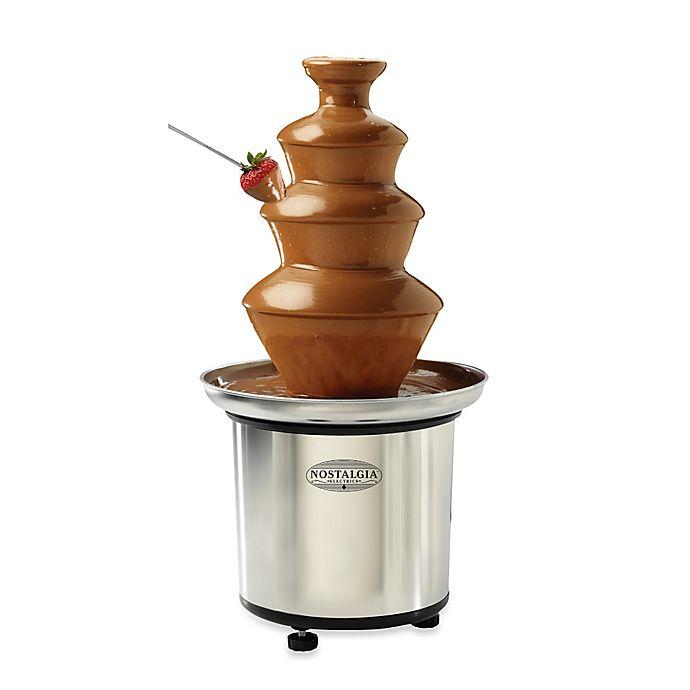 Alternate image 1 for Nostalgia™ Electrics 3-Tier Stainless Chocolate Fondue Fountain