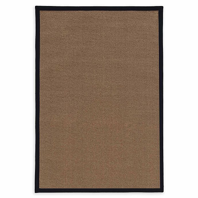 Alternate image 1 for Linon Home Natural Inspirations Faux Sisal 3' x 5' Area Rug in Brown/Black