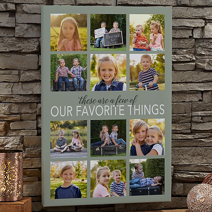 Alternate image 1 for Personalized My Favorite Things 24-Inch x 36-Inch Photo Canvas Print