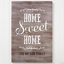 Personalized Home Sweet Home Canvas Print