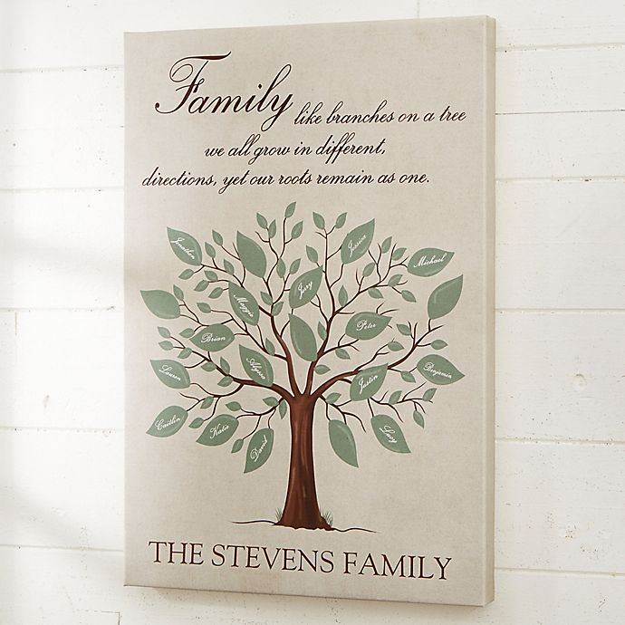 Alternate image 1 for Personalized Family Tree Canvas Print
