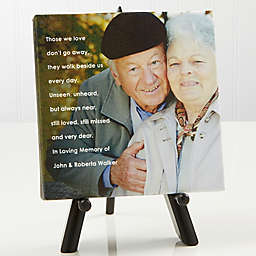 Personalized Memorial Photo Sentiments Canvas