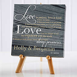 Personalized Love Is Patient Canvas Print