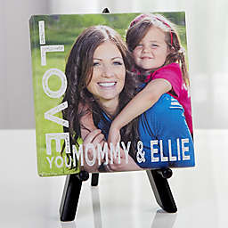 Personalized Loving Her Tabletop Canvas Print