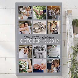 Personalized Wedding Photo Collage Canvas Print