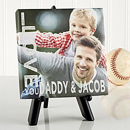 Loving Him Personalized Tabletop Canvas Print Collection