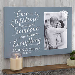 Personalized Once In A Lifetime Photo Canvas