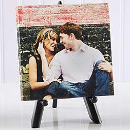 Personalized Sweet Couple Mini Photo Canvas Print
