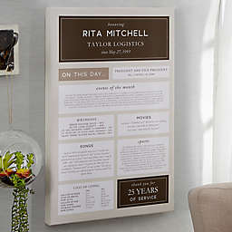 Personalized Retirement Chronicle Canvas
