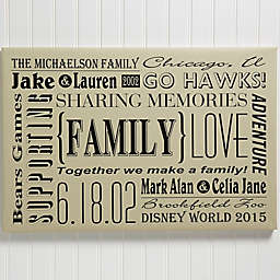 Personalized Our Family Canvas