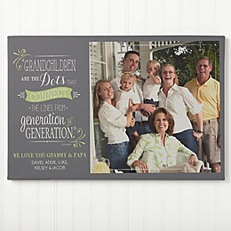 Personalized Our Grandchildren Canvas