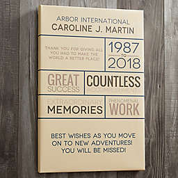Personalized Retirement Wishes Canvas