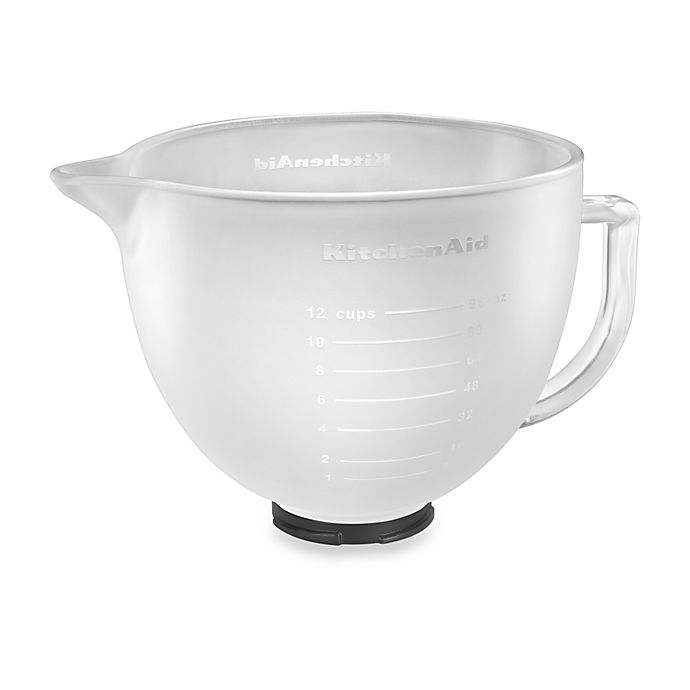 Alternate image 1 for KitchenAid® Frosted Glass Bowl for 5 qt. Artisan™ and Tilt-Head Stand Mixers