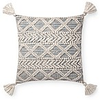 Magnolia Home Tate Square Throw Pillow in Ivory/Blue