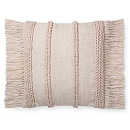 Magnolia Home Bishop Square Throw Pillow in Beige