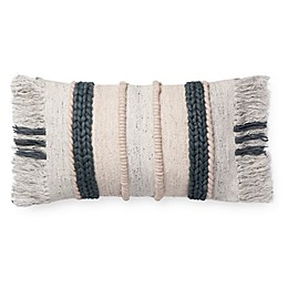 Magnolia Home by Joanna Gaines Bishop Oblong Throw Pillow in Dark Grey/Multi