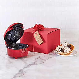 Dash™ Bow & Go Waffle Bowl Maker in Red
