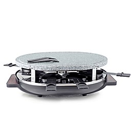 Swissmar Matterhorn 8-Person Raclette Party Grill with Granite Grill Top in Black