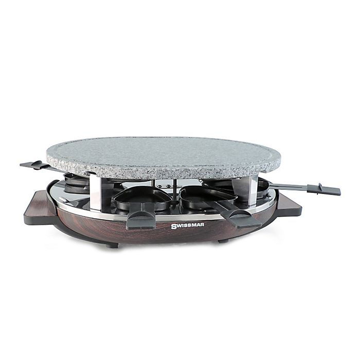 Alternate image 1 for Swissmar Matterhorn 8-Person Raclette Party Grill with Granite Grill Top in Brown