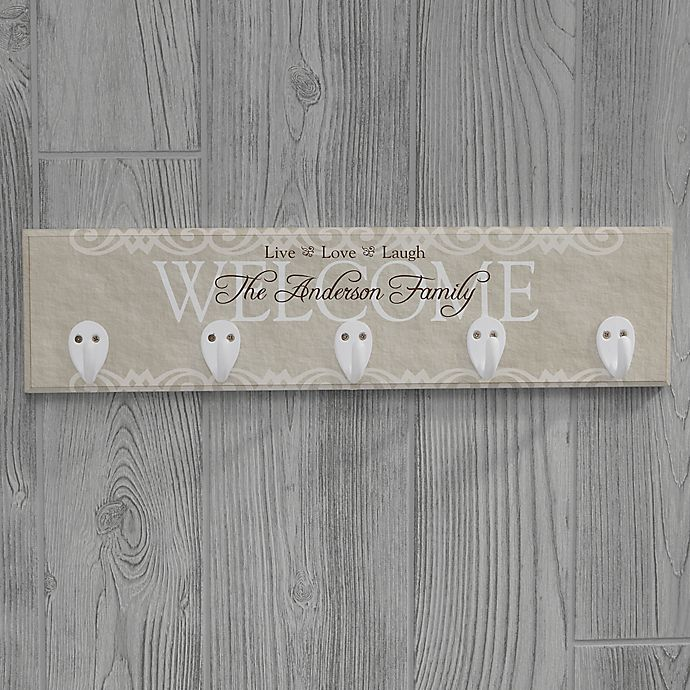 Alternate image 1 for Personalized Welcome Key Plaque