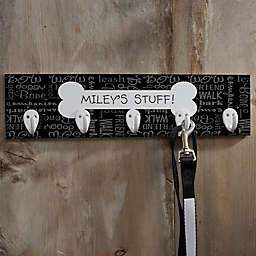 Personalized Dog Stuff Plaque With Hooks