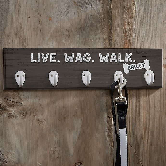Alternate image 1 for Personalized Farmhouse Style Leash Hook