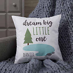Personalized Woodland Adventure Tree Baby Throw Pillow