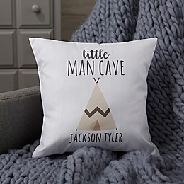 Personalized Woodland Adventure Teepee Baby Throw Pillow