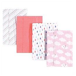 Luvable Friends® 4-Pack Clouds Burp Cloth Set