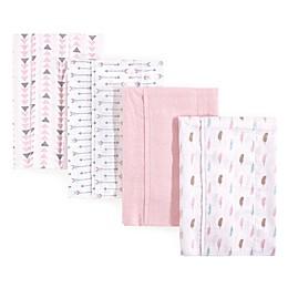 Luvable Friends® 4-Pack Feather Burp Cloth Set