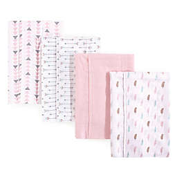 Luvable Friends® 4-Pack Feather Burp Cloth Set in Pink