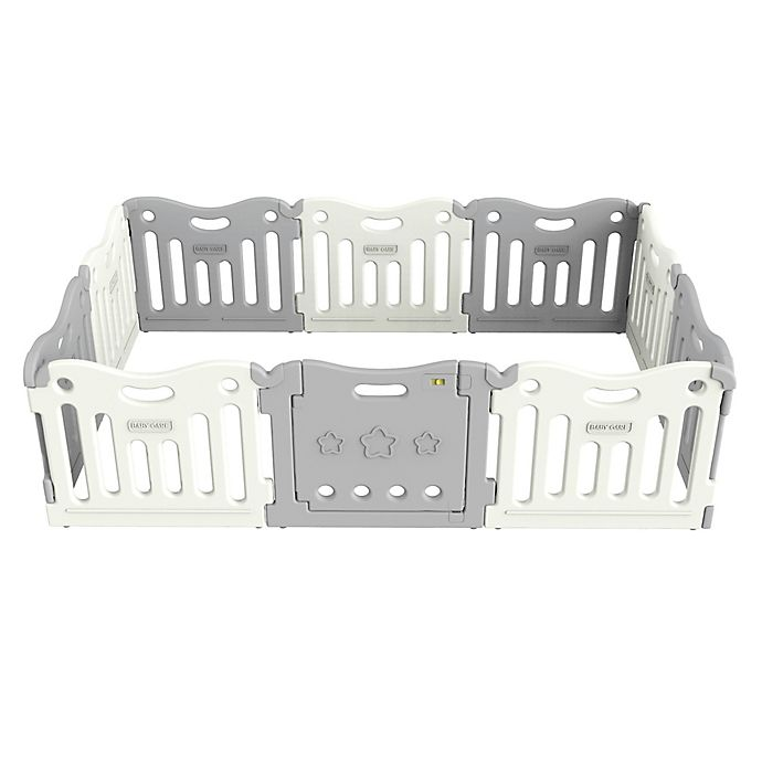 Alternate image 1 for BABY CARE™ Funzone Baby Playpen in Grey