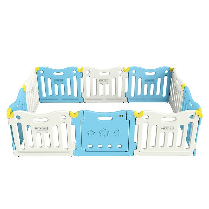 Alternate image 1 for BABY CARE™ Funzone Baby Playpen in Sky Blue