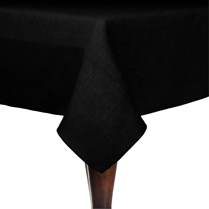 Alternate image 1 for Havana 72-Inch Round Tablecloth in Black