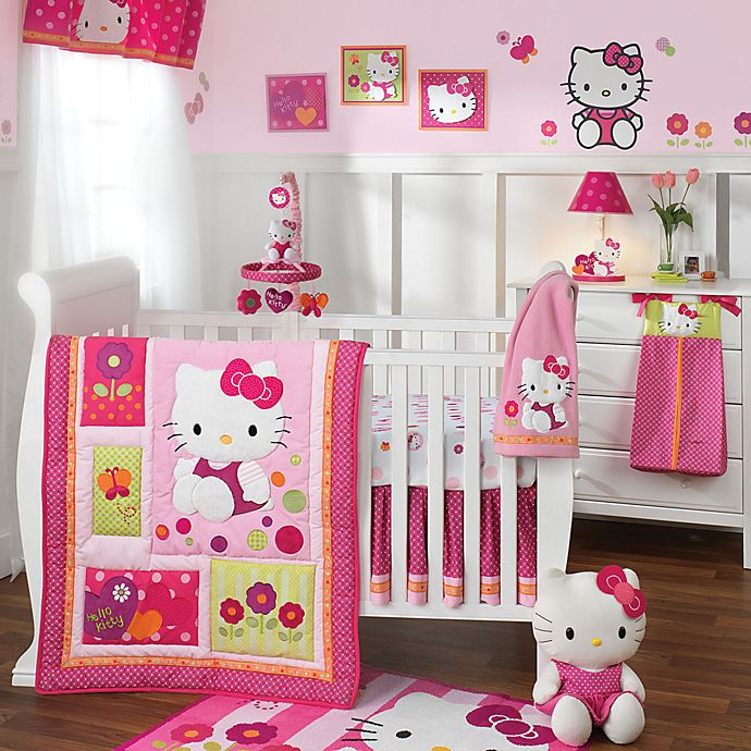 Lambs Ivy Hello Kitty Garden Crib Bedding Collection