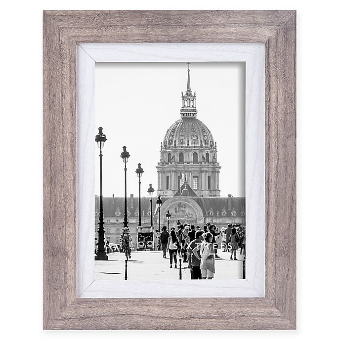 Alternate image 1 for Shelby 5-Inch x 7-Inch Wood Picture Frame in Grey/White