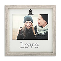 "Sixtrees ""I Love Us""  4-Inch x 4-Inch Clip Frame"