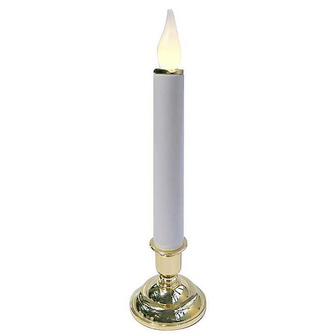 Alternate image 1 for Brite Star 10-Inch Cordless LED Candle in Grey/Brass