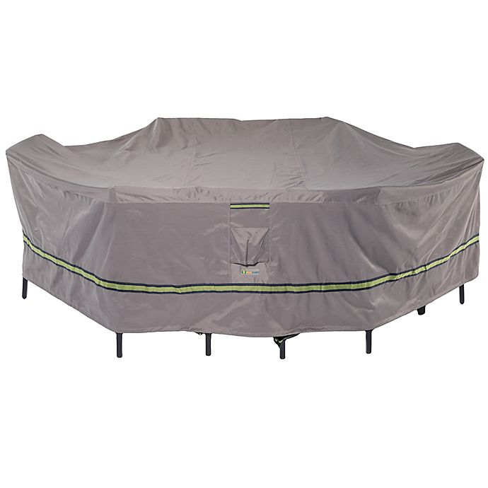 Alternate image 1 for Soteria Polyester Water-Resistant Rectangle/Oval Table Cover in Grey