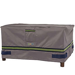 Soteria Polyester Water-Resistant Rectangle Ottoman/Side Table Cover in Grey