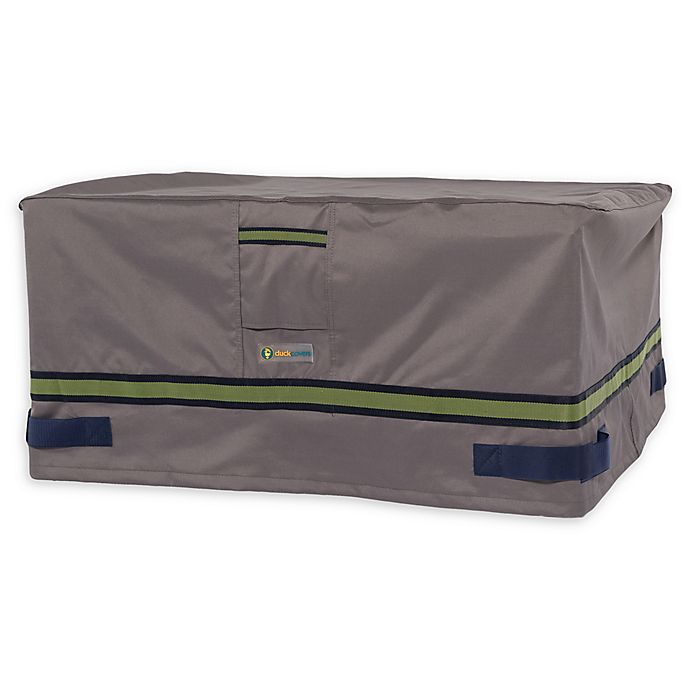 Alternate image 1 for Soteria Polyester Water-Resistant 56-Inch Rectangle Fire Pit Cover in Grey